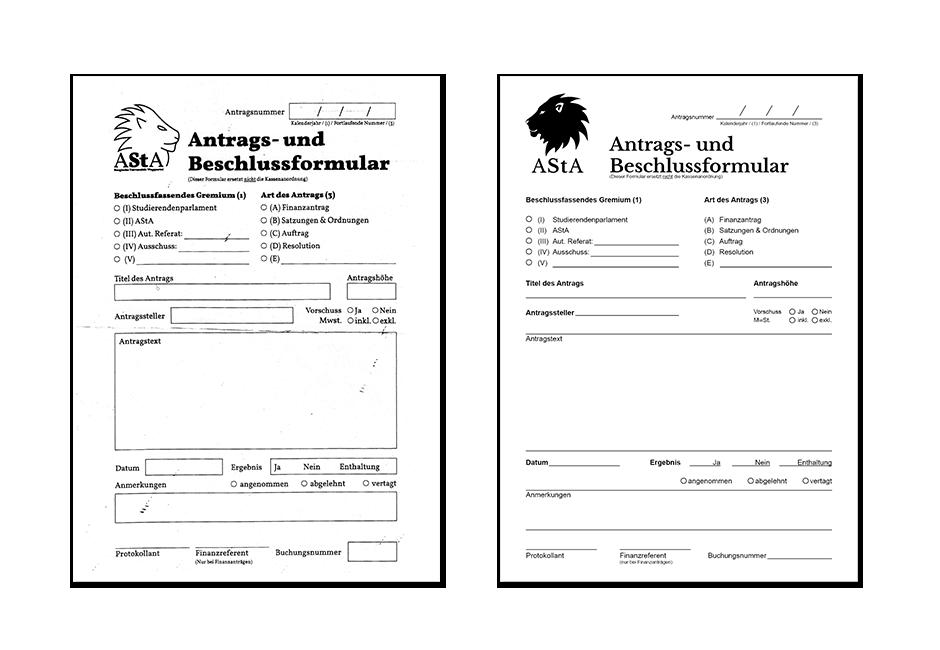 AStA BUW Formular Gestaltung